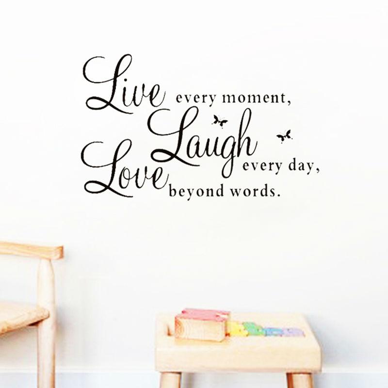 Live Laugh Love Wall Sticker Homeadore Shop