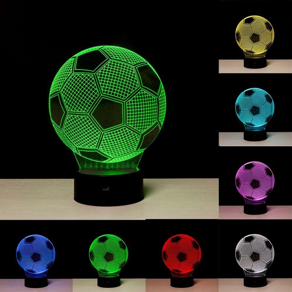 Soccer Ball Lamp Australia: 3D Soccer Ball Night Lamp