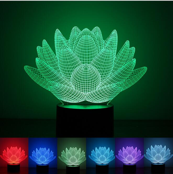 3d Lotus Flower Night Lamp Homeadore Shop