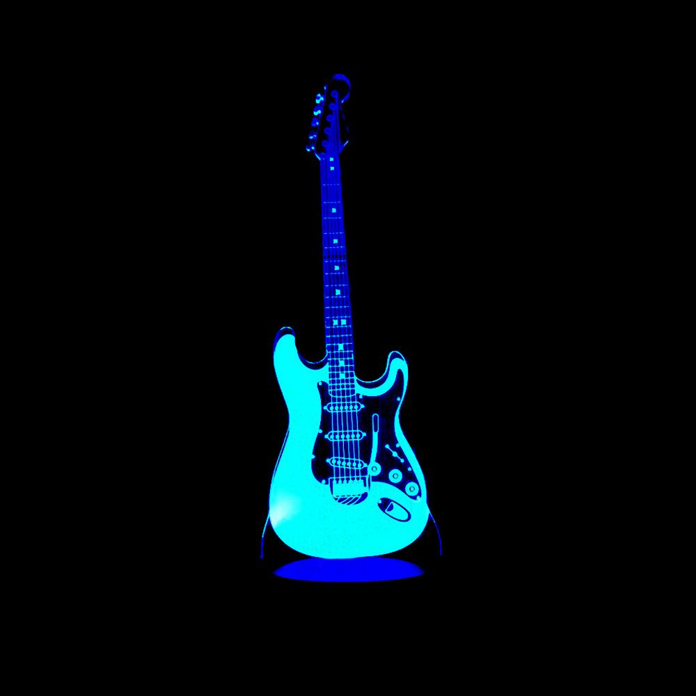 3d Guitar Night Light Lamp Homeadore Shop