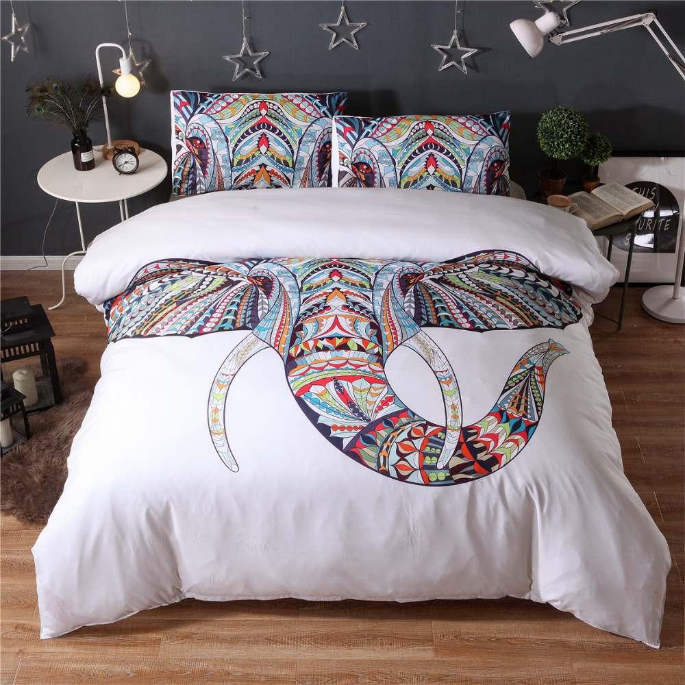 elephant bedding set homeadore shop. Black Bedroom Furniture Sets. Home Design Ideas