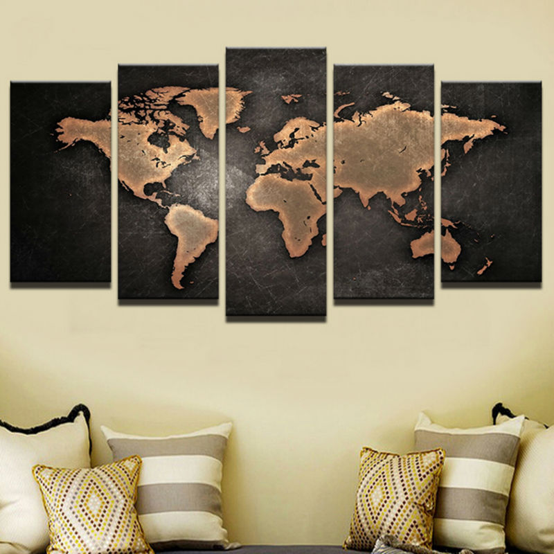 World map panel canvas art homeadore shop 40 x 60 cm 16 x 24 in 2x 40 x 80 cm 16 x 32 in 2x 40 x 100 cm 16 x 40 in 1x gumiabroncs Choice Image